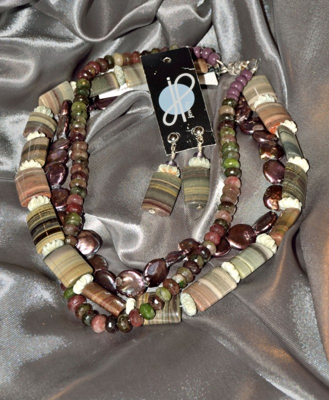 Jackie Brennen-brown necklace