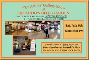 Art Show at Ricardo's on July 8th 12-8 PM