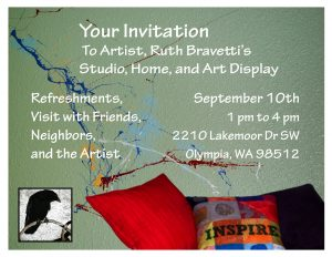 Ruth Bravetti Studio Tour September 10th 1-4 PM