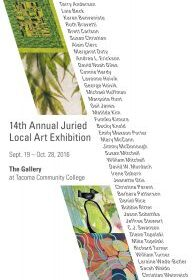 14th Annual Juried Art Exhibition at Tacoma Community College Sept 19-Oct. 28th