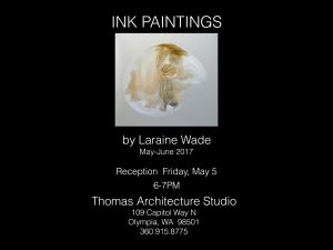 Laraine Wade Exhibition of Ink Paintings May-June 2017